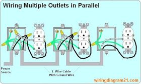 How To Wire Multiple Outlet In Parallel Electrical Wiring Diagram Home Electrical Wiring Electrical Wiring Electrical Outlets