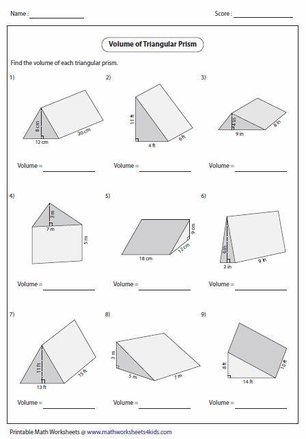 Volume Worksheets 7th Grade Math Worksheets Volume Worksheets Volume Math
