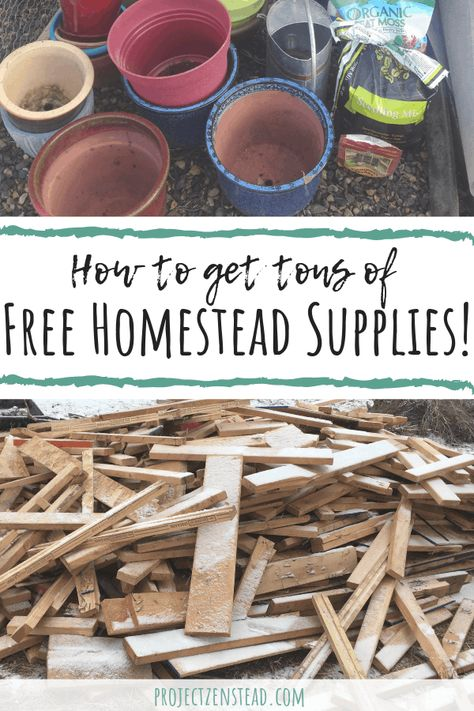 How to Find Free Homestead Supplies Using Craigslist - Project Zenstead - Dulcia Mogey Homestead Farm, Homestead Living, Homestead Survival, Survival Prepping, Survival Skills, Homestead Homes, Homestead Layout, Survival Shelter, Wilderness Survival