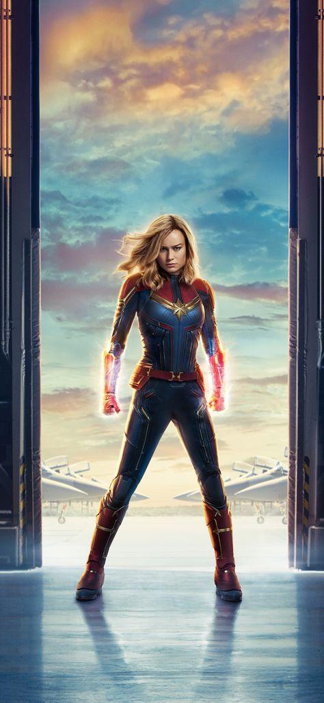 Movie, Captain Marvel, superhero, poster, 1125x2436 wallpaper