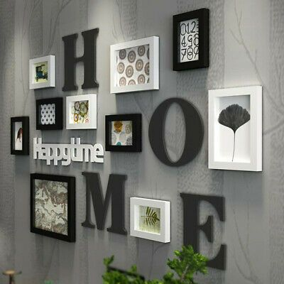 Find Many Great New Used Options And Get The Best Deals For 10pc Set Family Photo Frame Picture Living Room Wall Designs Wall Collage Decor Living Room Wall