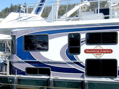 Houseboatgraphicsboatdecalcustomvinyl Houseboats Design - Houseboats vinyl decals