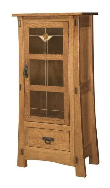 Amish Modesto One Door Jelly Cabinet Amish Furniture Glass Cabinet Doors Glass Cabinet