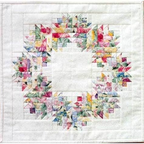 Guirlanda Floral Quilt Quilting padrão, de Mh Designs, Nova