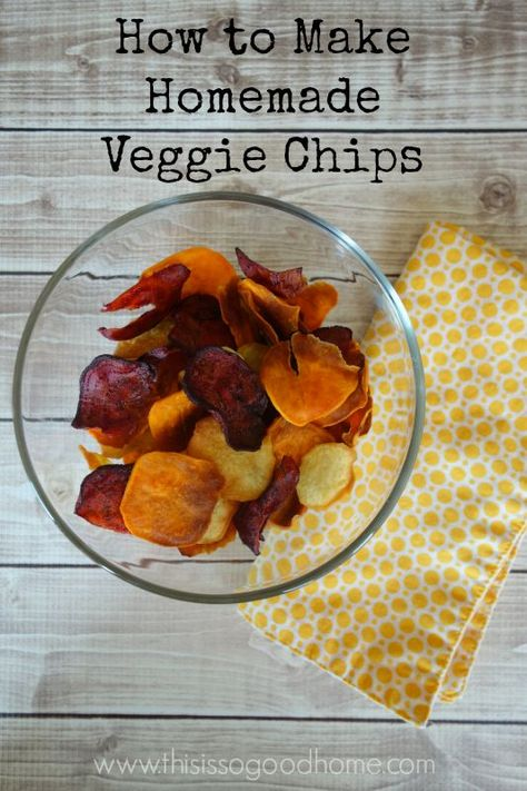 These baked veggie chips are an easy and delicious way to get more veggies into your diet and give yourself and your family a healthy snack!