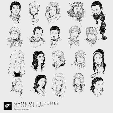 Game Of Thrones Fan Art 23 Vectors Free Download Vector Free Game Of Thrones Art Game Of Thrones Fans