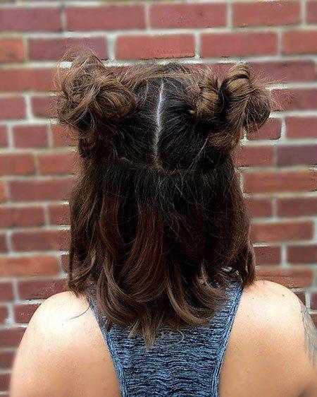 23 New Cute Hairstyles For Short Hair In 2020 Cute Hairstyles For Short Hair Short Hair Bun Long Hair Styles