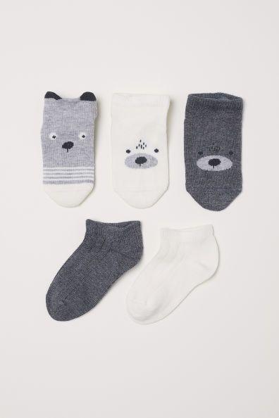 5-pack trainer socks