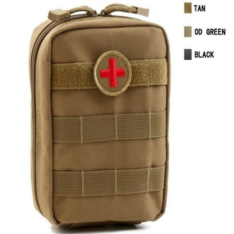 Molle Tactical Military 600D EDC Utility Bag Medical First Aid Pouches Case