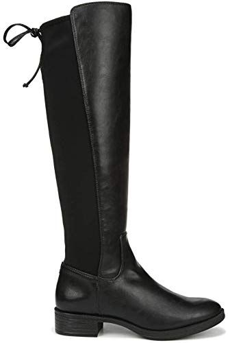 Odema Womens Wedge Knee High//Mid Calf Rain Boots Bow-Tie Side Zipper Waterproof Shoes Wellies