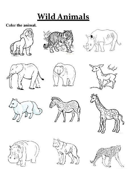 Wild Animals Esl Worksheet By Angielskiola Animal Worksheets Animals Wild Big Animals Animals colouring pages for kindergarten