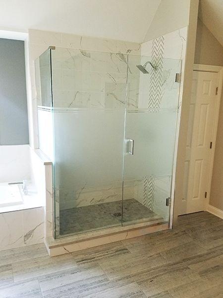 Corner Enclosure Etched Sandblasted Shower Doors Creative Mirror Shower In 2020 Corner Shower Enclosures Glass Shower Doors Frameless Frameless Shower Doors