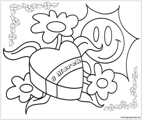 7 Women S Day Coloring Pages Ideas Coloring Pages Free Coloring Pages Day