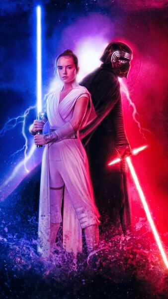 Star Wars The Rise Of Skywalker Poster Rey Kylo Ren 4k Hd