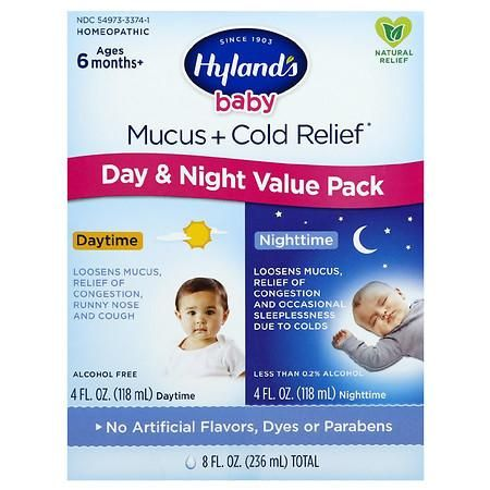 Hyland S Baby Mucus Cold Relief Day Night Value Pack In 2020 Baby Cold Medicine Cough And Cold Medicine Cold Medicine
