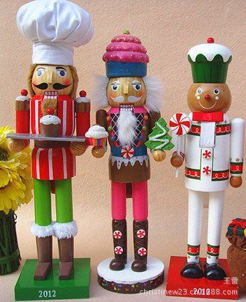 NEW -Christmas ornament series of Nutcracker Puppet Santa Claus Doll Cake shops, candy stores, home christmas decoration supplies