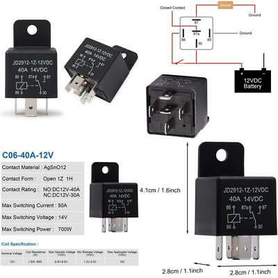 Ehdis Motor Relay 5 Pin 12v Coil 40amp Spdt Model No Jd2912 1z 12vdc 40a 14vdc In 2020 Relay Contact Form Model