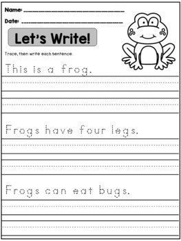 Spring Handwriting Practice Sentences Handwriting Practice