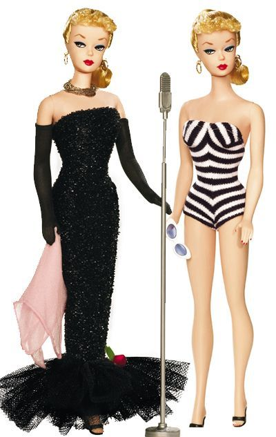 Barbie 1959. I have the brunette re-released one on the left