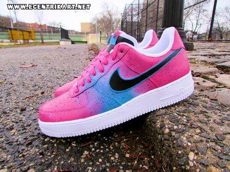 "Nike Air Force 1 ""Miami Nights"" Custom By @ecentrikshoeart"