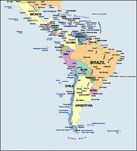 Spanish Speaking Countries Maps Central America Capital ...