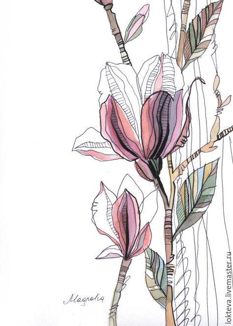 Картины цветов ручной работы. Ярмарка Мастеров - ручная работа. Купить