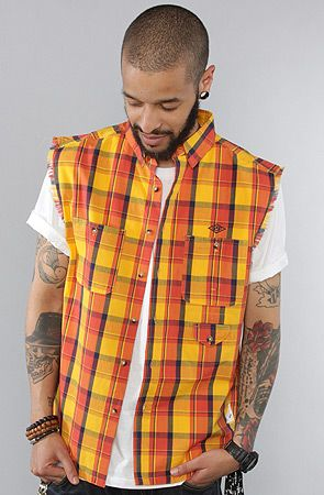The Sleeveless Buttondown Shirt in Yellow by 10 Deep