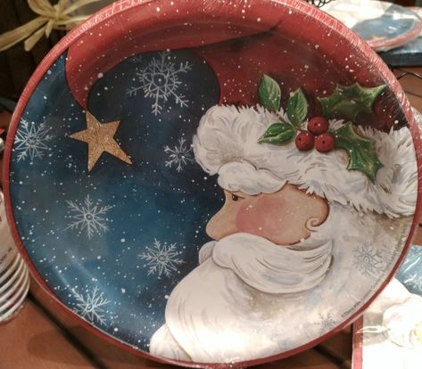 Santa S Watching Christmas Party Tableware Plates Napkins Cups