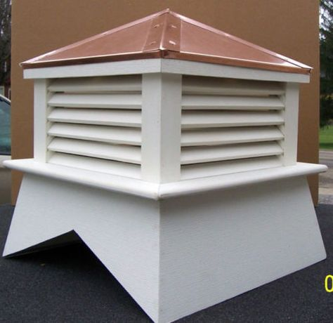 24 Vinyl Cupola Roof Vent For Your Weather Vane All Self Hand Built Weather Vanes Roof Vents Cupolas