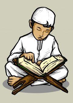 Happy Muslim Girl Holding Quran Book Muslim Kids Quran Book Anime Muslim