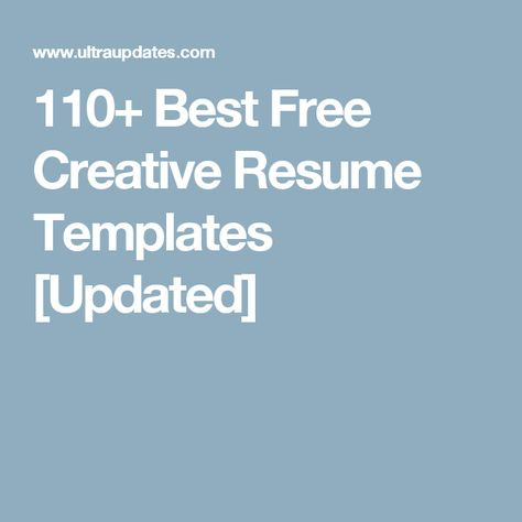 110+ Best Free Creative Resume Templates Updated Mustafa - free creative resume templates
