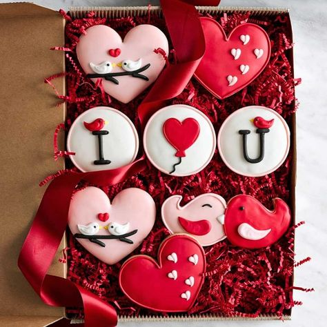 Valentine's Day Assorted Cookie Gift Box, Set of 8, Valentine's Day Delivery