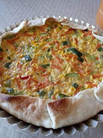 Tarta De Verduras Light Receta De Leisa Moyano Receta Tartas De Verduras Verduras Comida Vegetariana Recetas