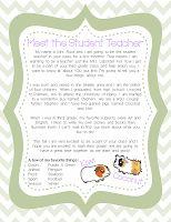letter template meet the student teacher  Meet the Student Teacher Letter from student teacher to ...