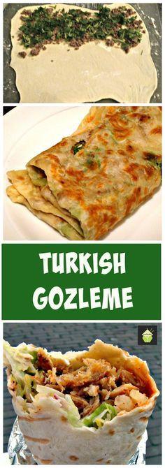 How to make Gozleme Turkish bread,Turkish pancake - Great filling