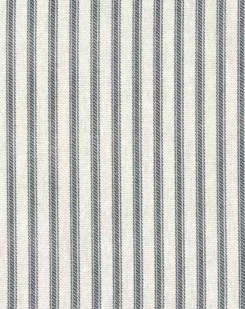 Farmhouse Ticking Stripe Fabric Steel Gray Ivory