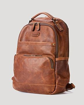 Logan Leather Backpack | Leather backpack for men, Brown