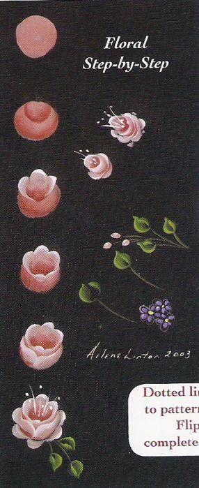 Best Flowers Painting Acrylic Rose Folk Art Ideas
