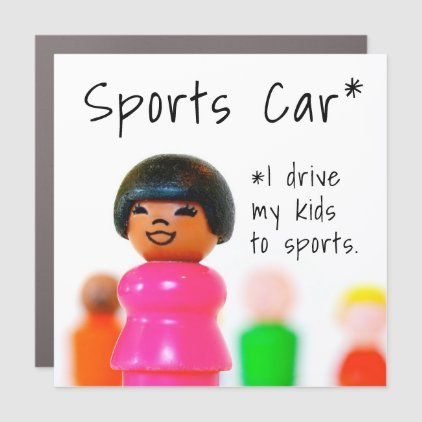 Soccer Mom Driving Kids Funny Carpool Personalized Car Magnet Zazzle Com In 2020 Car Personalization Car Magnets Funny Kids