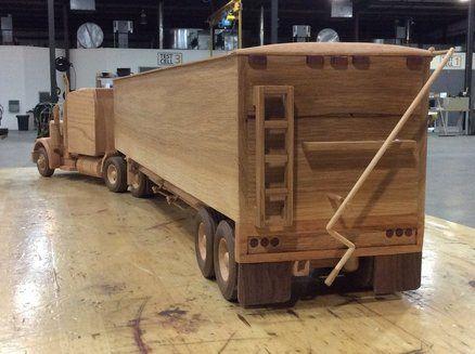 Peterbuilt With Hopper Bottom Trailer Wooden Toys Plans Wooden Truck Wood Toys Plans