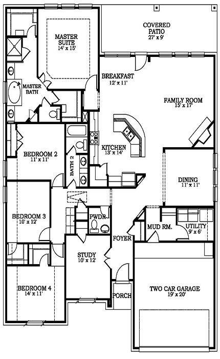 Hilltop 4924 Brick House Plans Dream House Plans Floor Plans