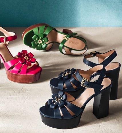 0860441f317 MICHAEL MICHAEL KORS Tara Floral Embellished Leather Platform Sandal ...