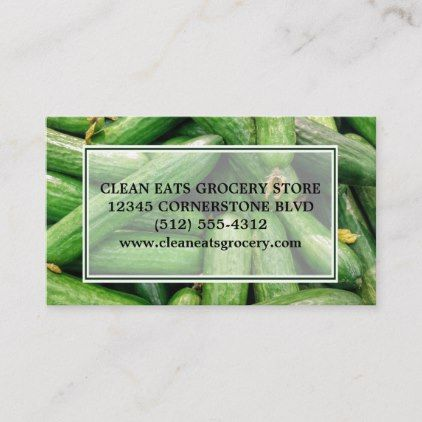 Grocery Store Farmers Market Green Produce Photo Business Card Zazzle Com Photo Business Cards Grocery Store Grocery