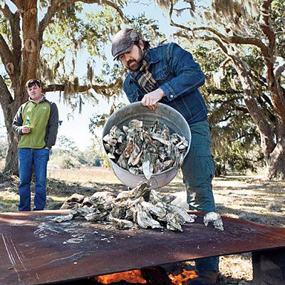 Step 2: Build a Roasting Pit - Oyster Roast - Southern Living