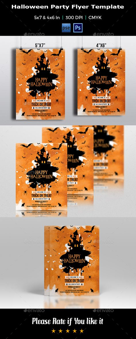 Halloween Party Flyer Template-V389 by Template Shop on - halloween party flyer