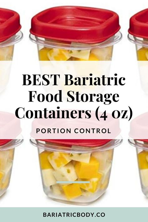 5 Bariatric - Food Containers that are portion sized for after Weight loss Surgery. Bariatric Eating, Bariatric Recipes, Bariatric Surgery, Gastric Sleeve Diet, Gastric Sleeve Surgery, Weight Loss Meals, Tupperware, Bariatric Sleeve, Food Portions