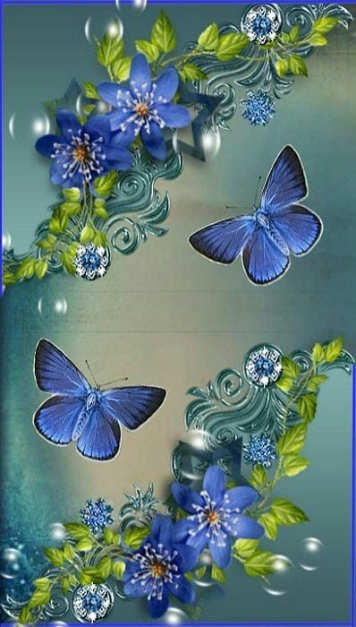 Pin By Jj S Passions On Butterfly Fantasy Realm 3 Flower Background Wallpaper Butterfly Wallpaper Flower Phone Wallpaper