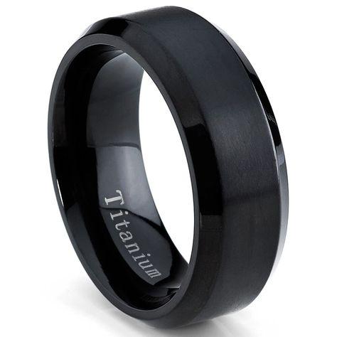 or noir Alliance en acier inoxydable pour homme // femme argent Rose Sz 5-13