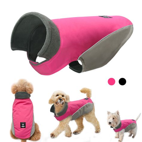 $10.99 AUD - Waterproof Soft Fleece Dog Clothes Coat Jacket Fleece Lined For Small Large Dogs #ebay #Home & Garden