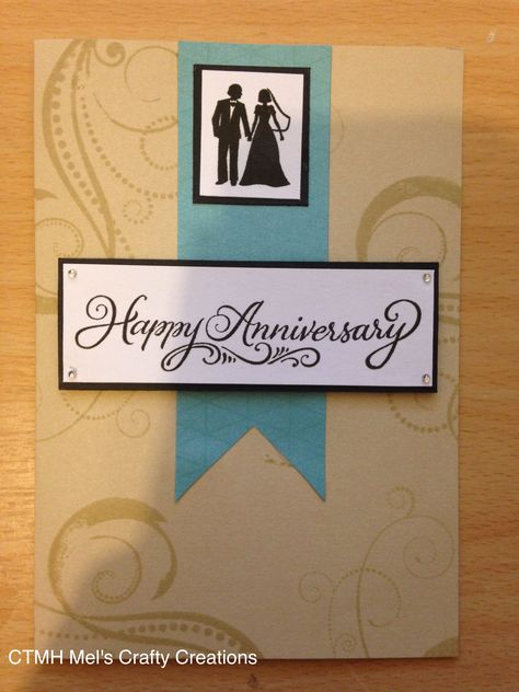 Close to my heart card stock with The Happy Couple stamp set